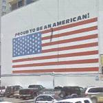 'Proud To Be An American' Flag Mural