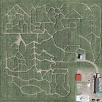 Corn field maze (Google Maps)