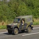 Danish military jeep (StreetView)