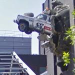 Car out of Building (StreetView)
