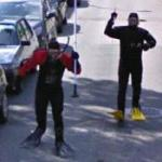 Crazy SCUBA Guys Chase Street View
