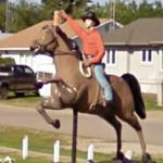 Bucking Horse and Rider (StreetView)