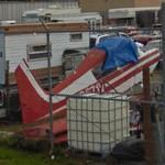 Dismantled plane at A Sentry Mini Storage (StreetView)