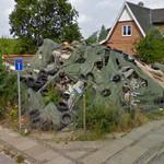 Remains of a house renovation gone bad (StreetView)