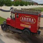 Circus Arena advertising car