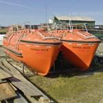 Two freefall lifeboats
