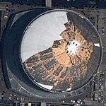 Louisiana Superdome after Katrina (Google Maps)