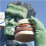 Frankenstein eating a Whopper