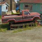Ford truck with continuous tracks (StreetView)