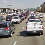 Traffic jam on Bayshore Fwy