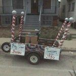 Bay View Barber parade float (StreetView)