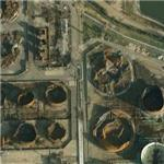 Damage from the Buncefield fire (11 December 2005) (Google Maps)