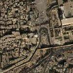 Wailing Wall (western Wall) and Mount of olives (Google Maps)