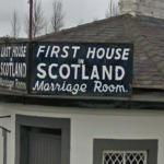 """First House in Scotland"" (StreetView)"