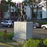 Gandhi's statue