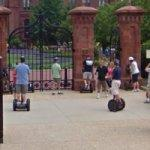 Segway riders at the Smithsonian Institution