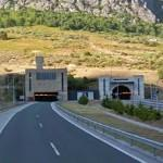 Negrón tunnel on the side of León