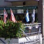 Norway, Denmark, Sweden and Finland flags (StreetView)