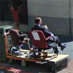 Getting a shoe shine (StreetView)