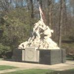 Iwo Jima Memorial replica at Marine Corp Base Quantico (StreetView)