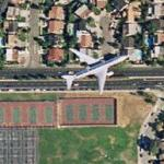 Airplane over San Jose (Google Maps)