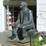 Barefooted Hans Christian Andersen (StreetView)