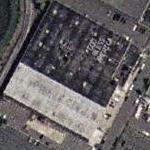 Elizabeth Detention Center with 'God Bless America' on roof (Yahoo Maps)