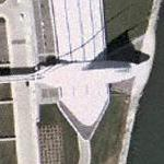 Burke Brise Soleil at the Milwaukee Art Museum (Yahoo Maps)