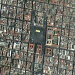Map of Zocalo place in Mexico City