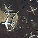 Aircraft boneyard (Yahoo Maps)