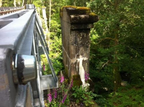 Original bridge abutment.