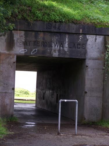 Battery Wallace - North battery entrance on east side of the hill