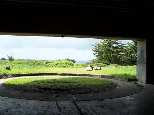 Battery Wallace - Inside the north battery looking out