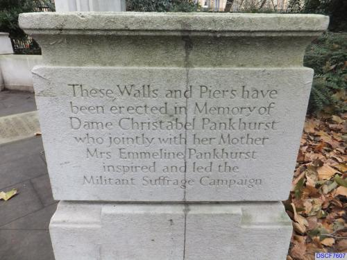 Monuments in Victoria Tower Garden