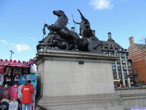 Boadicea (Boudicca) and her Daughters Statue