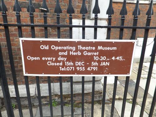 The Operating Theatre Museum