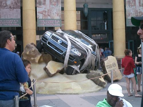 A Volkswagen Car Outside the Ride