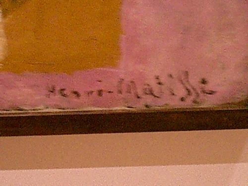 Henri Matisse's Signature