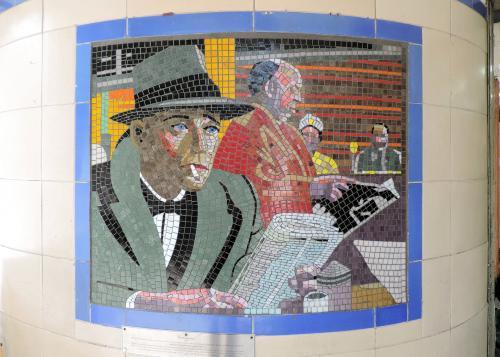 Leytonstone Tube Stations Hitchcock mosaics