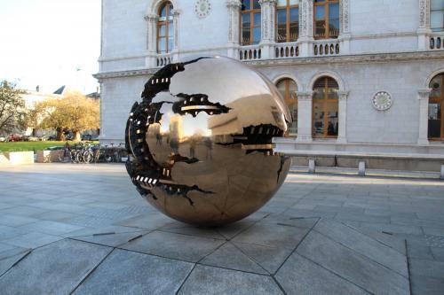 'Sphere within Sphere' by Arnaldo Pomodoro