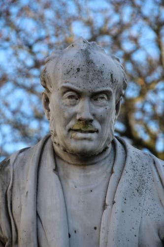 Sculpture by John Hughes of George Salmon in Trinity College