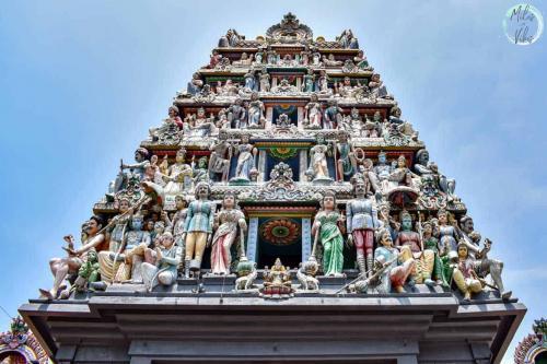 The majestic gopuram of Sri Mariamman Temple