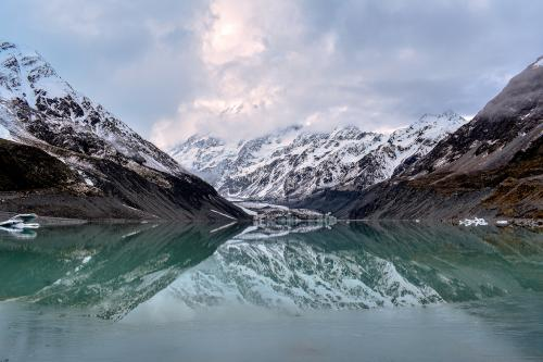 Hooker Lake - Hooker Glacier Terminus, photo courtesy of Miles with Vibes