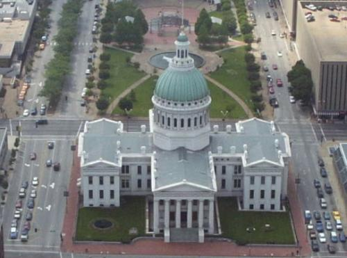 View of Courthouse from the Gateway Arch.