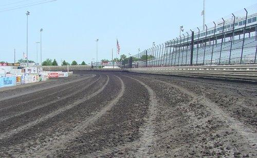 Looking down the front stretch (August 2005)