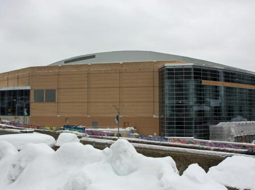 The Consol Energy Center under construction (February 14, 2010).