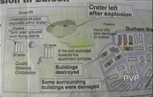 Location of 1994 Durham Woods Gas Pipeline Explosion in Edison, NJ ...