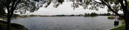 EPCOT Panorama from the north side of the lake looking south