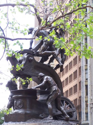 'The Mechanics Monument' by Douglas Tilden