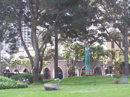 'Pine Tree Obelisk' by Joan Brown